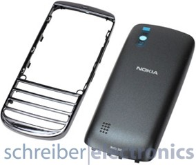 Nokia Asha 300 Cover + Akkudeckel graphite-schwarz