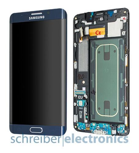Samsung G928 S6 edge+ plus Displayeinheit schwarz