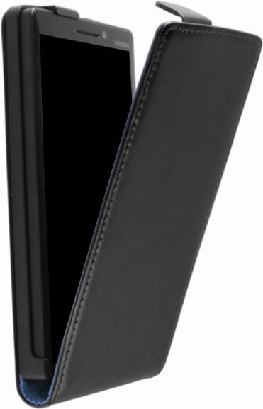 Lumia 535 Klapp-Tasche (Flip-Case) in schwarz