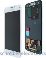 Samsung G800 Galaxy S5 mini Display mit Touchscreen weiss