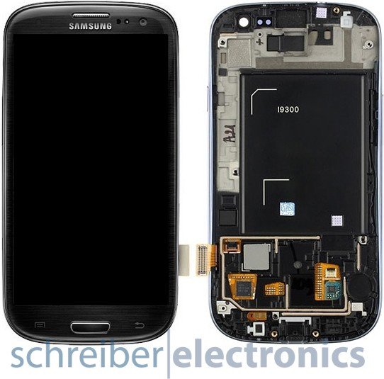 Samsung i9300 Galaxy S3 Display, Touchscreen black