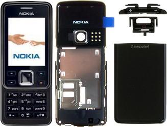 Nokia 6300 Komplett Cover all black (6300i 6301)